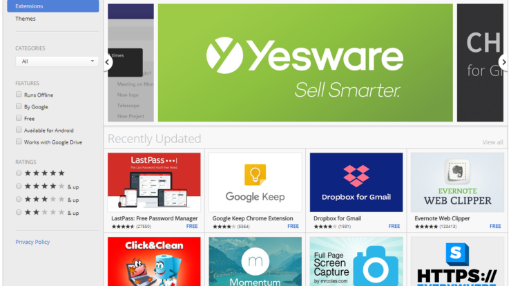 Installing Google Chrome Extensions now only Possible in Chrome Store