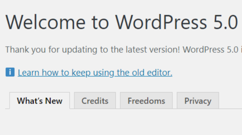 WordPress 5 released with Gutenberg Text Editor