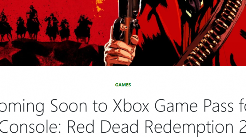 Red Dead Redemption 2 comes to Xbox Game Pass on May 7